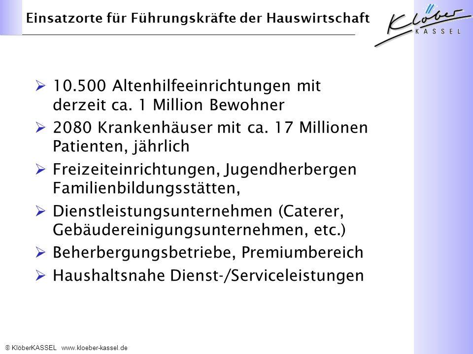 10.500 Altenhilfeeinrichtungen mit derzeit ca. 1 Million Bewohner