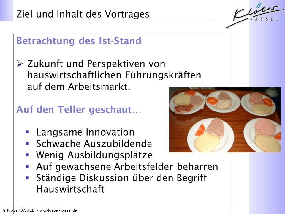 Ziel und Inhalt des Vortrages