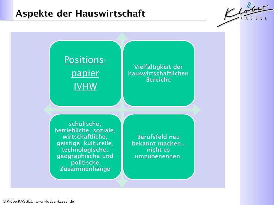 Aspekte der Hauswirtschaft Positions- papier IVHW