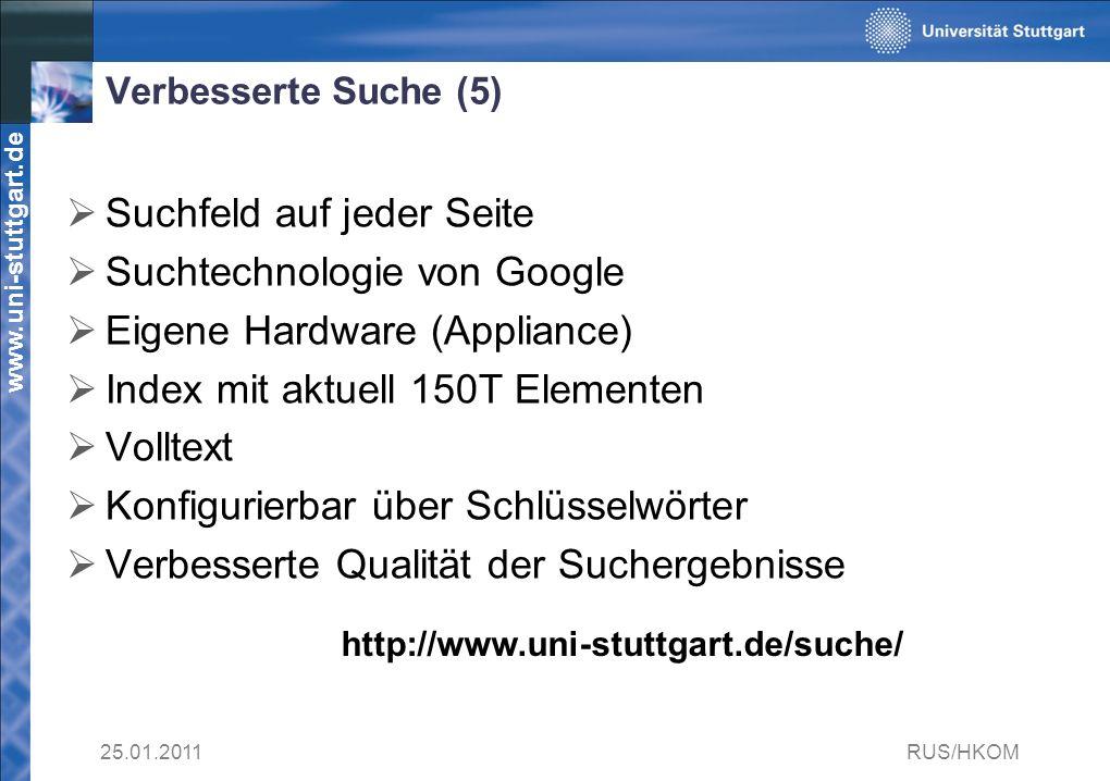Suchfeld auf jeder Seite Suchtechnologie von Google