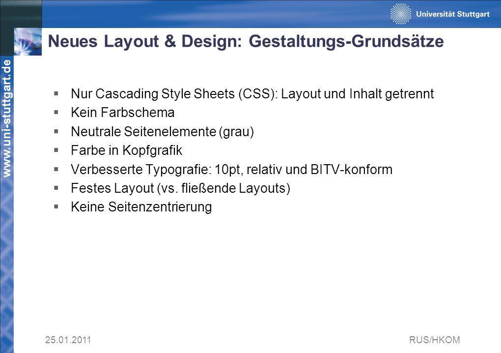 Neues Layout & Design: Gestaltungs-Grundsätze