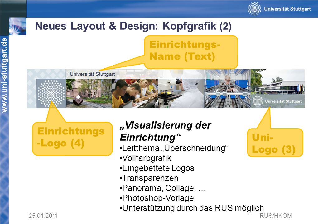 Neues Layout & Design: Kopfgrafik (2)