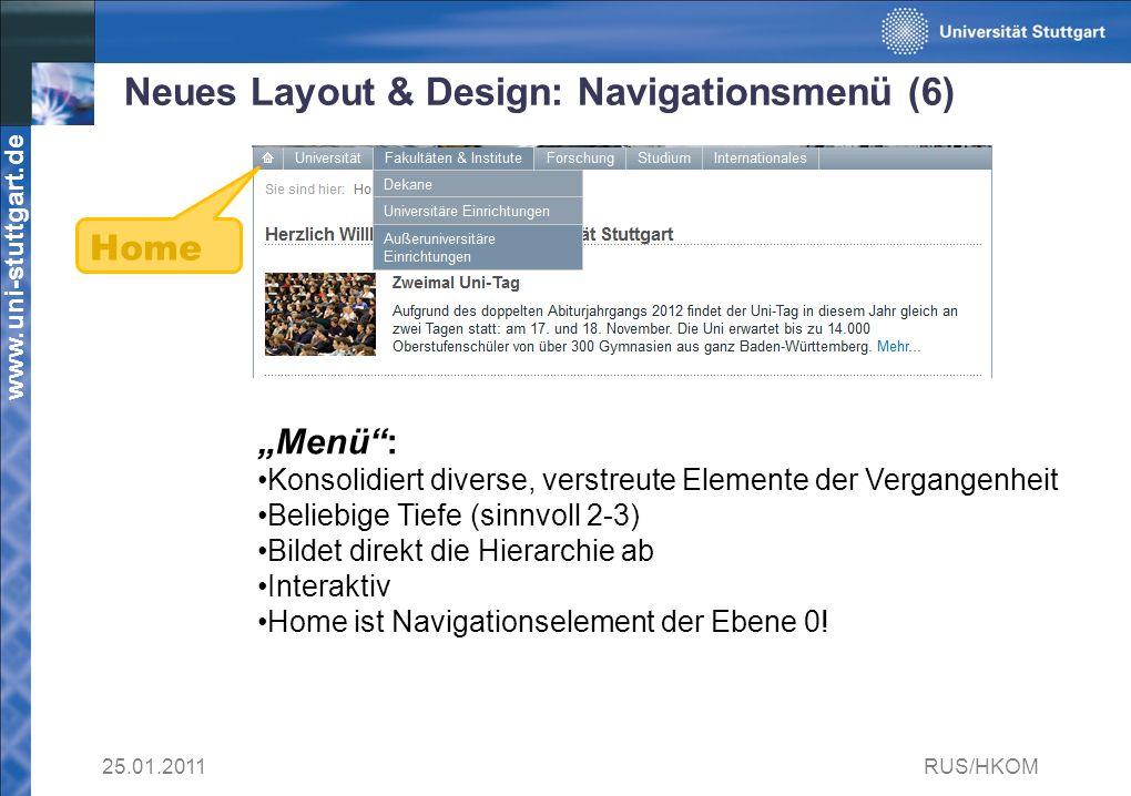 Neues Layout & Design: Navigationsmenü (6)
