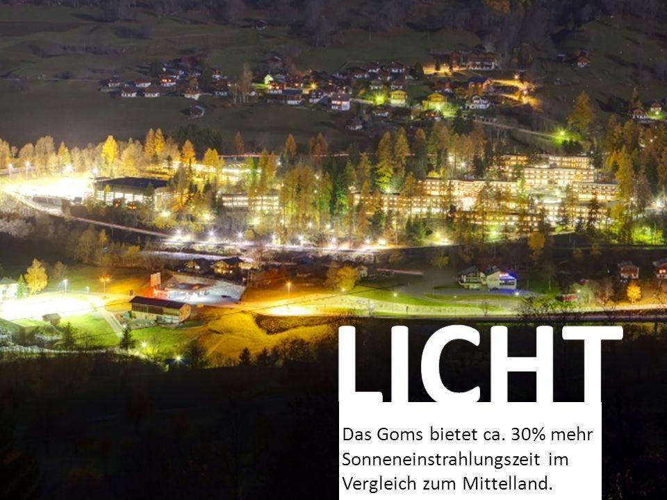 1/5 des Stromverbrauchs im Resort wird mit einer 1'300 m2 grossen Fotovoltaikanlage auf den Dächern des Resorts hergestellt.