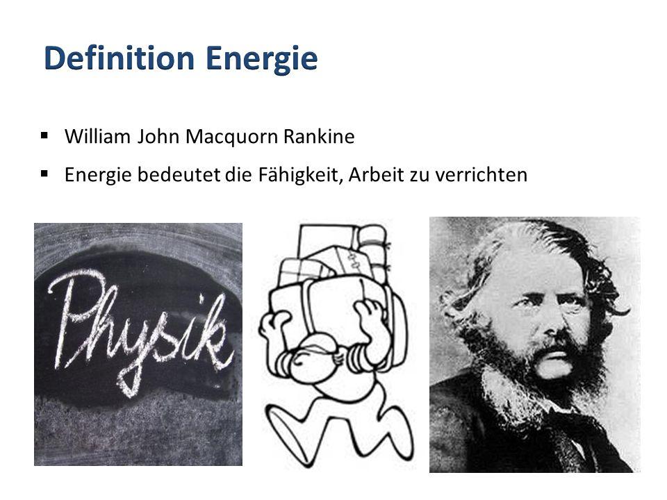 Definition Energie William John Macquorn Rankine