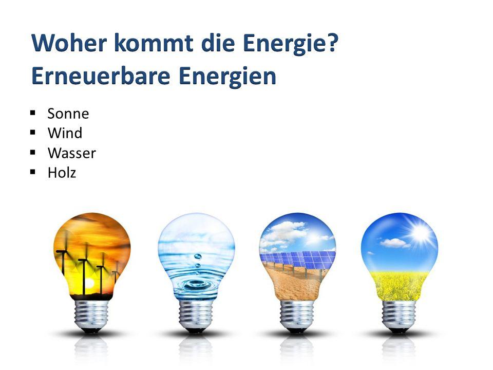 Woher kommt die Energie Erneuerbare Energien