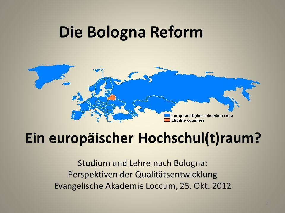 Ein europäischer Hochschul(t)raum