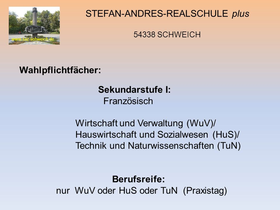 STEFAN-ANDRES-REALSCHULE plus 54338 SCHWEICH
