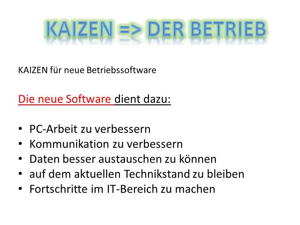 KAIZEN => der Betrieb