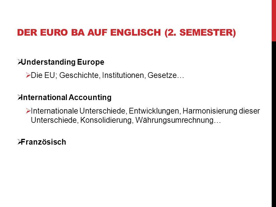 Der Euro BA auf Englisch (2. Semester)
