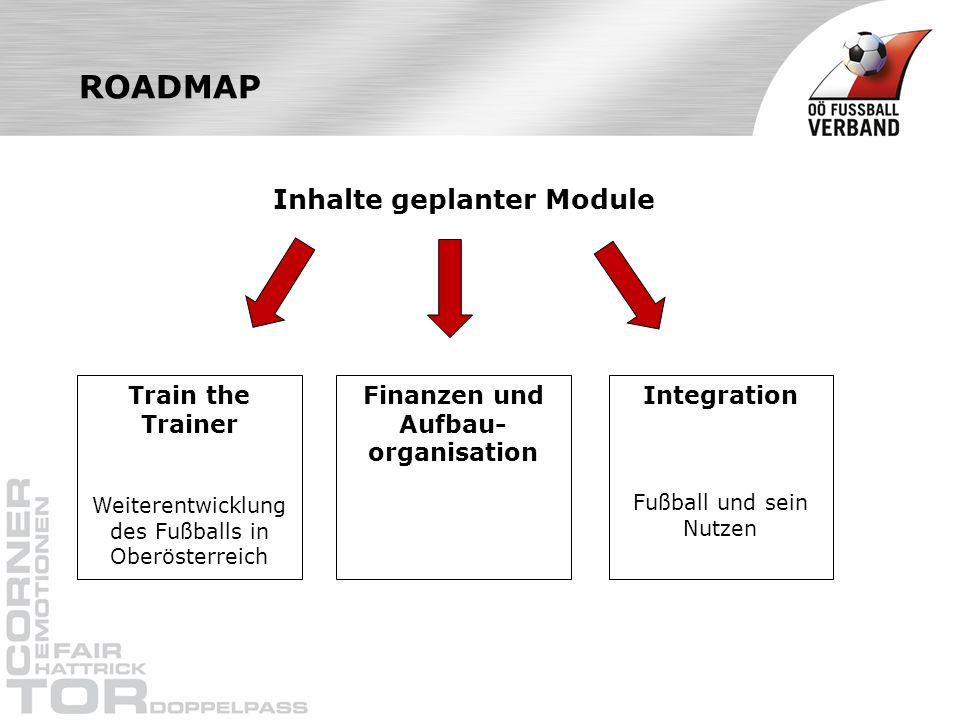 Inhalte geplanter Module Finanzen und Aufbau-organisation