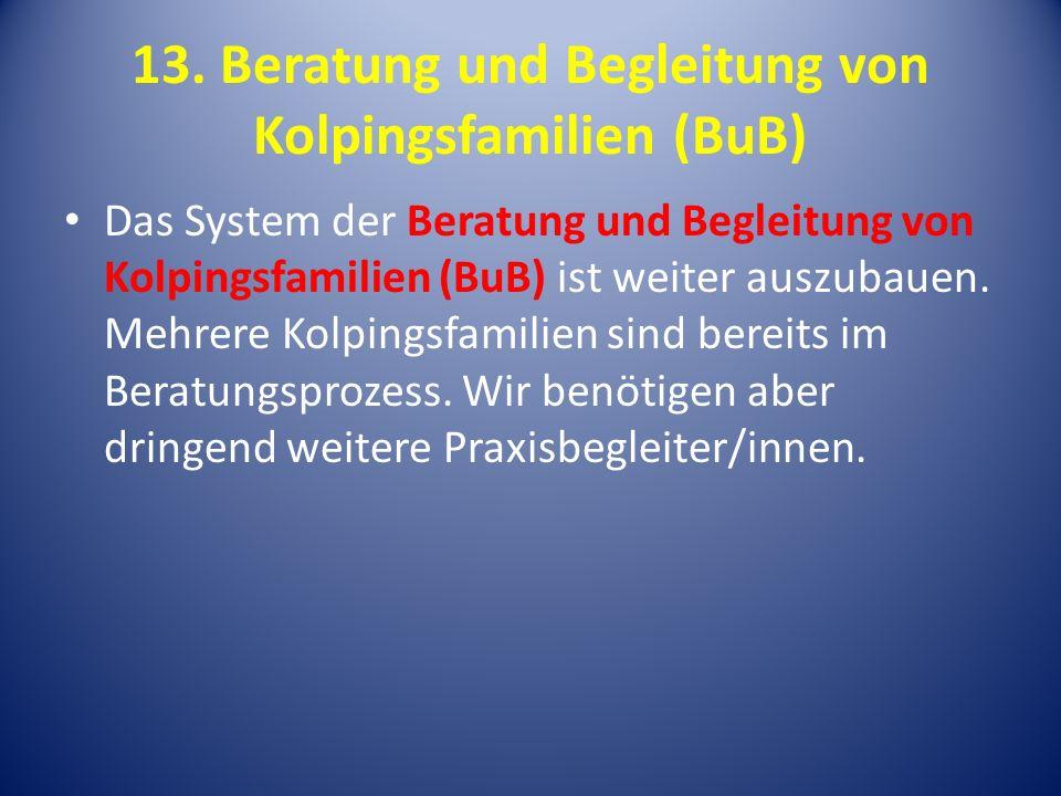 13. Beratung und Begleitung von Kolpingsfamilien (BuB)
