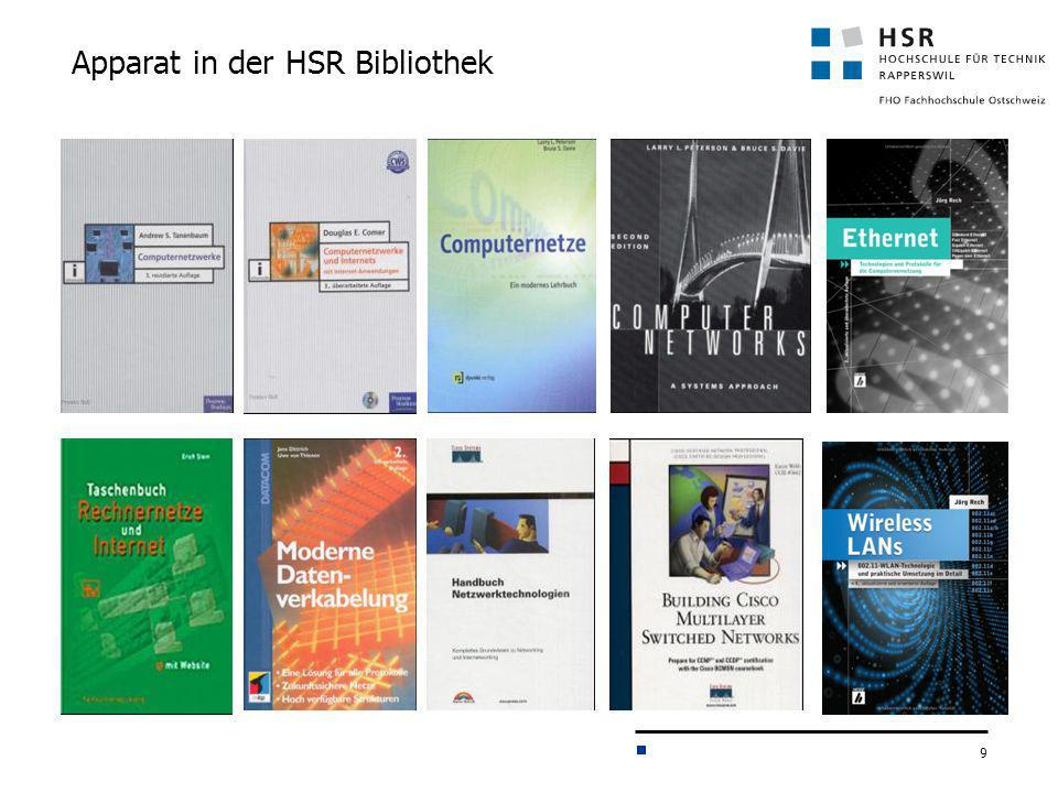 Apparat in der HSR Bibliothek