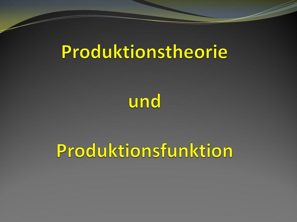 Produktionstheorie und Produktionsfunktion