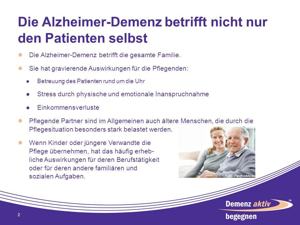 Die Alzheimer-Demenz betrifft nicht nur den Patienten selbst