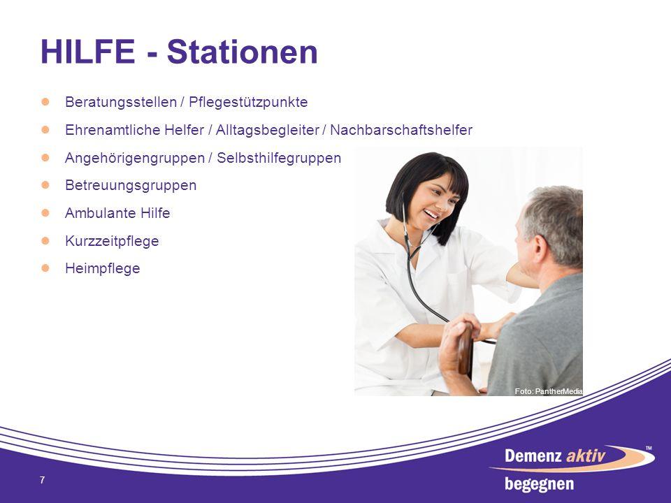 HILFE - Stationen Beratungsstellen / Pflegestützpunkte