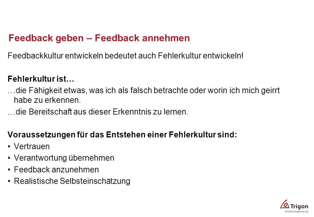 Feedback geben – Feedback annehmen