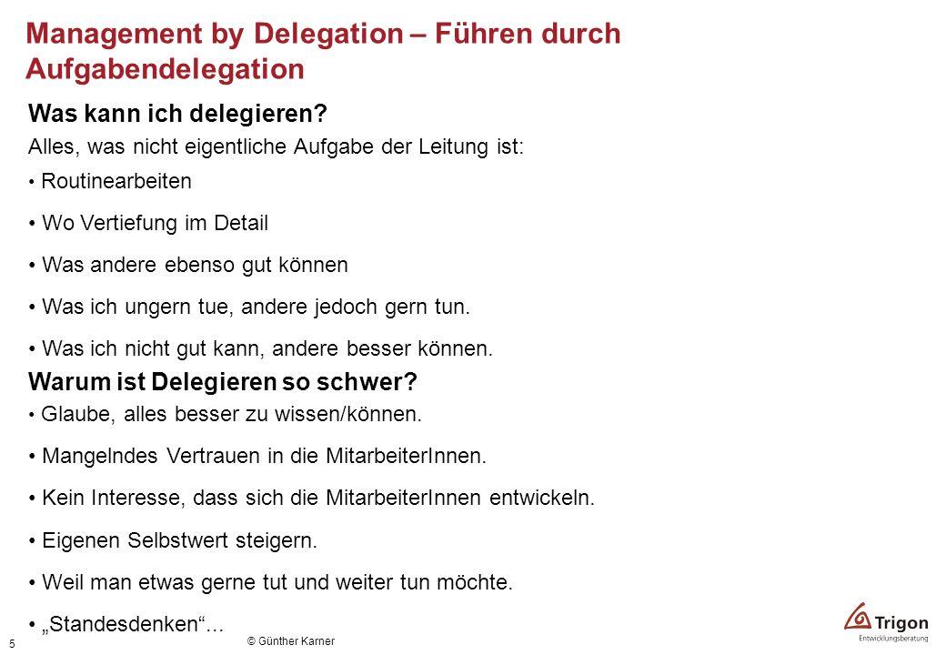 Management by Delegation – Führen durch Aufgabendelegation