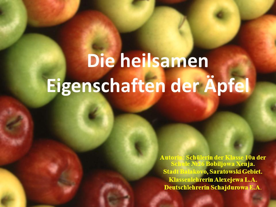 Die heilsamen Eigenschaften der Äpfel