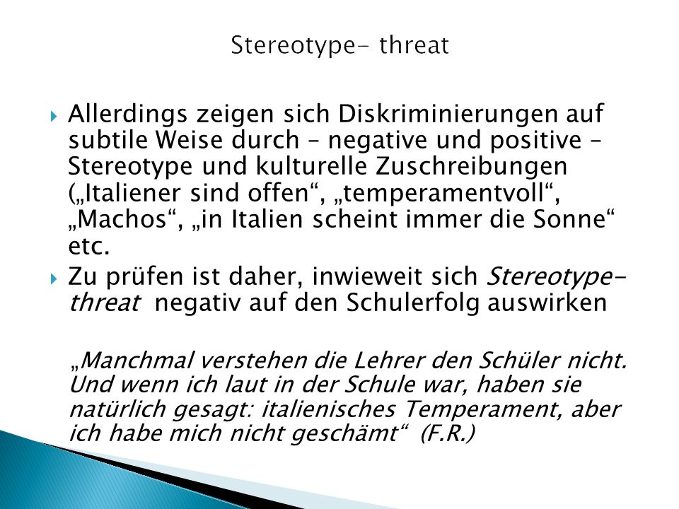 Stereotype- threat