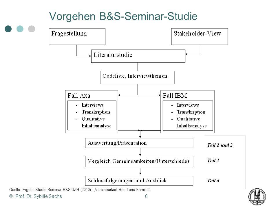 Vorgehen B&S-Seminar-Studie