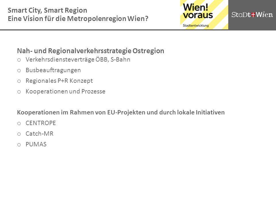 Smart City, Smart Region Eine Vision für die Metropolenregion Wien