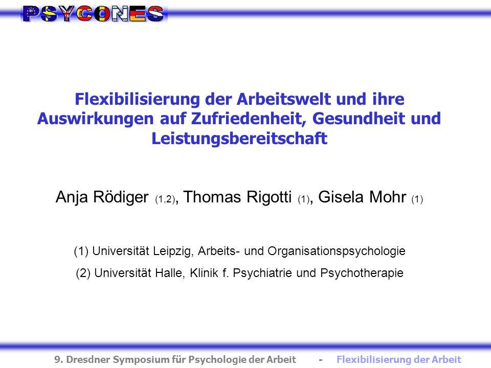 Anja Rödiger (1,2), Thomas Rigotti (1), Gisela Mohr (1)