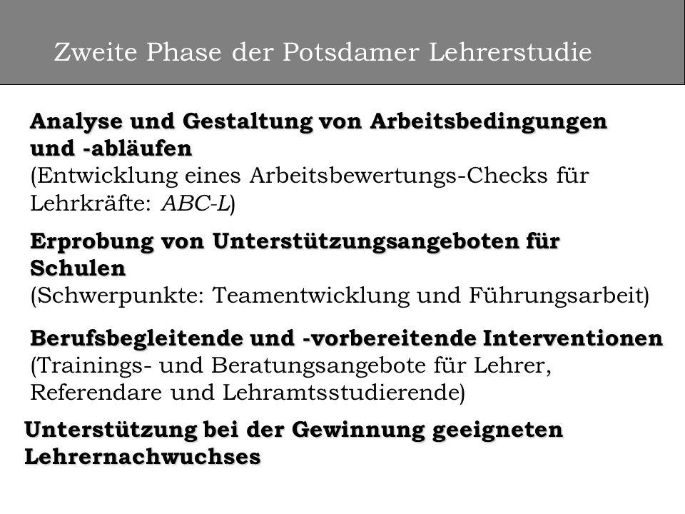 Zweite Phase der Potsdamer Lehrerstudie