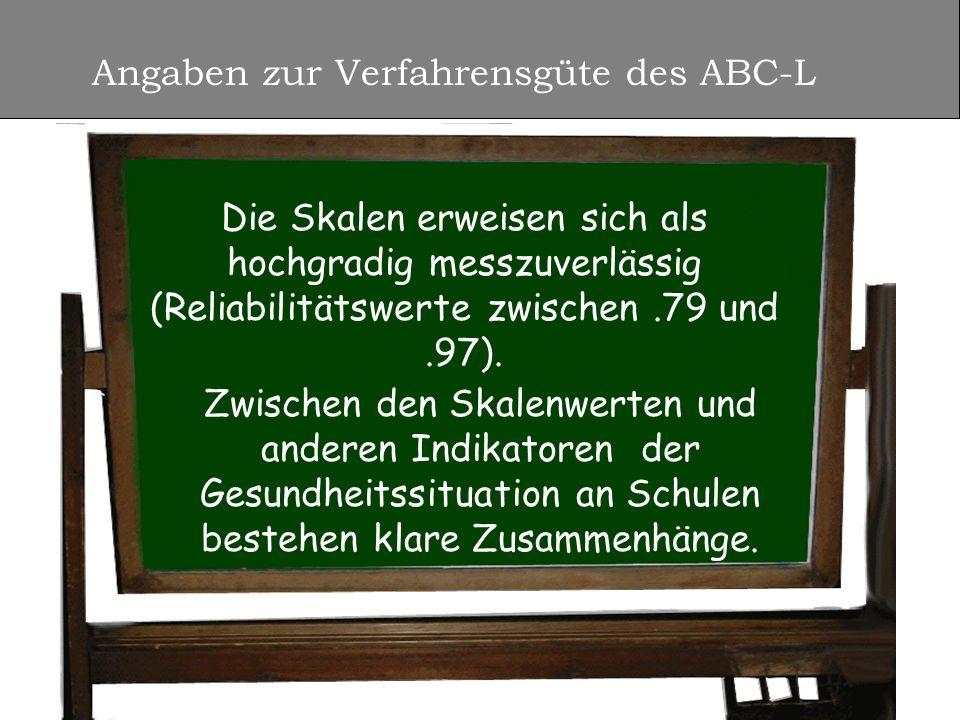 Angaben zur Verfahrensgüte des ABC-L