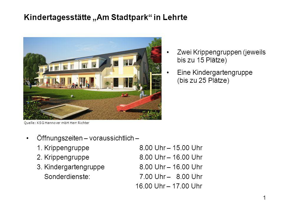"""Kindertagesstätte """"Am Stadtpark in Lehrte"""