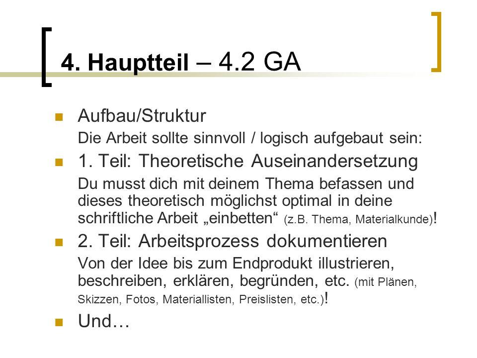 4. Hauptteil – 4.2 GA Aufbau/Struktur
