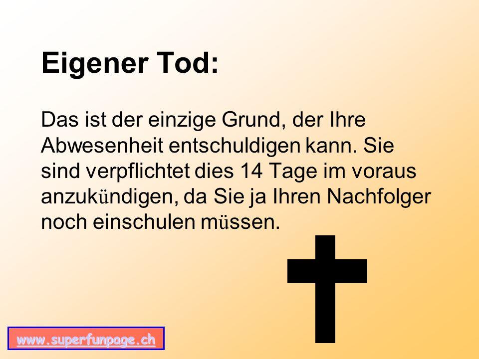 Eigener Tod: