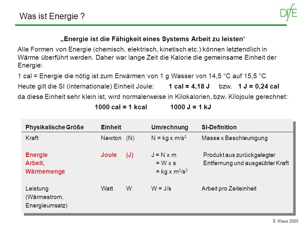 """""""Energie ist die Fähigkeit eines Systems Arbeit zu leisten"""