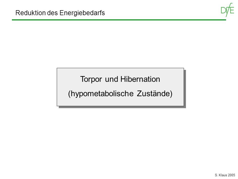 Torpor und Hibernation (hypometabolische Zustände)