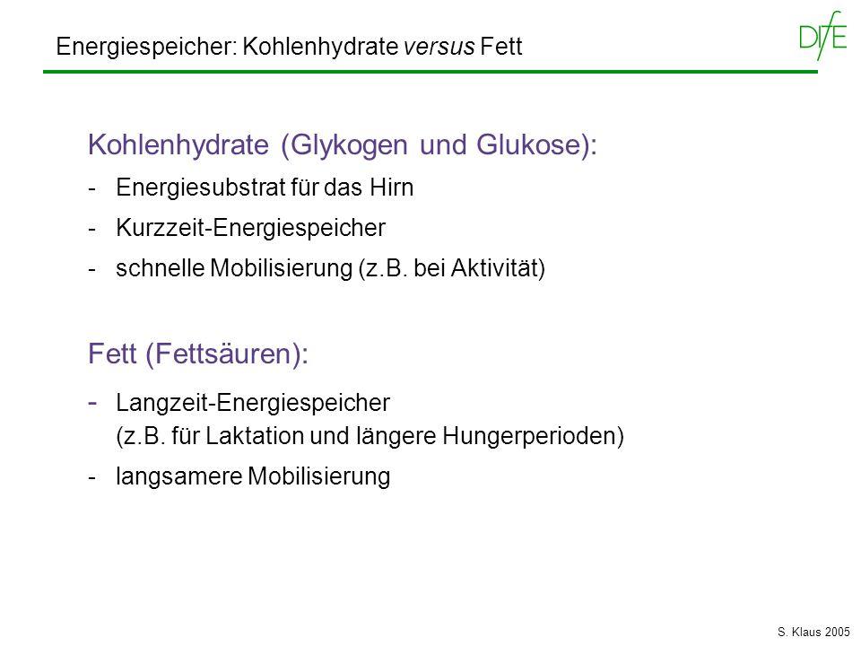 Kohlenhydrate (Glykogen und Glukose):
