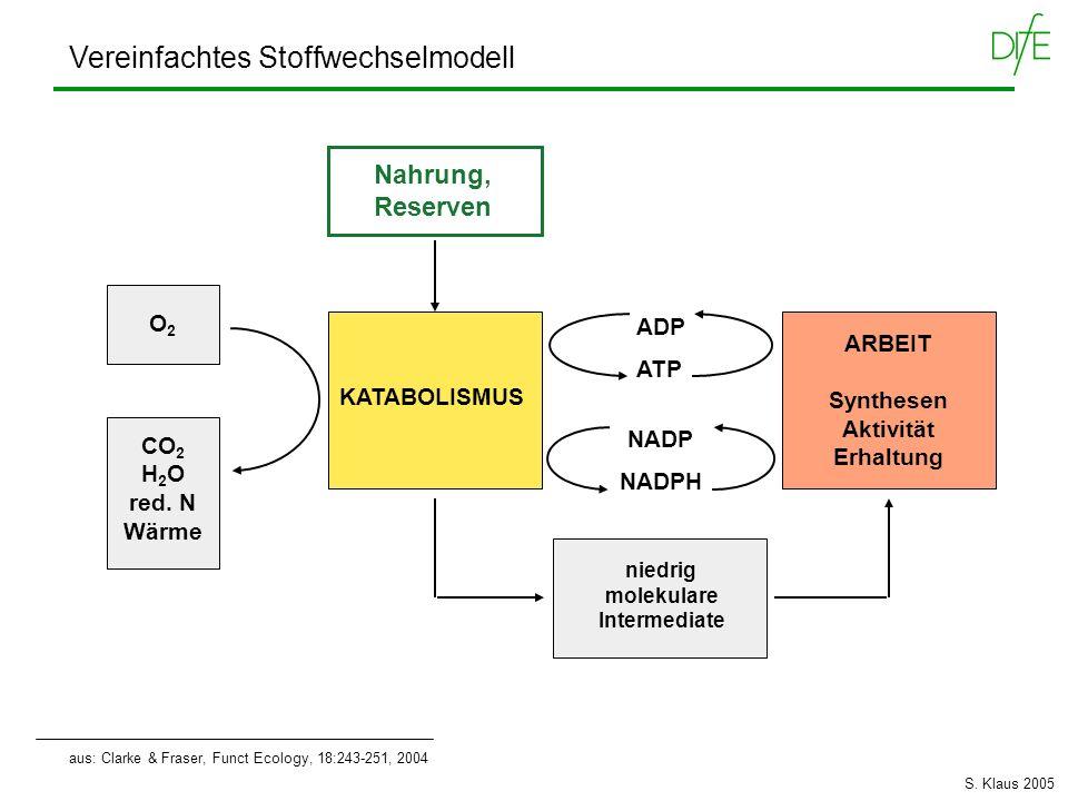 Vereinfachtes Stoffwechselmodell