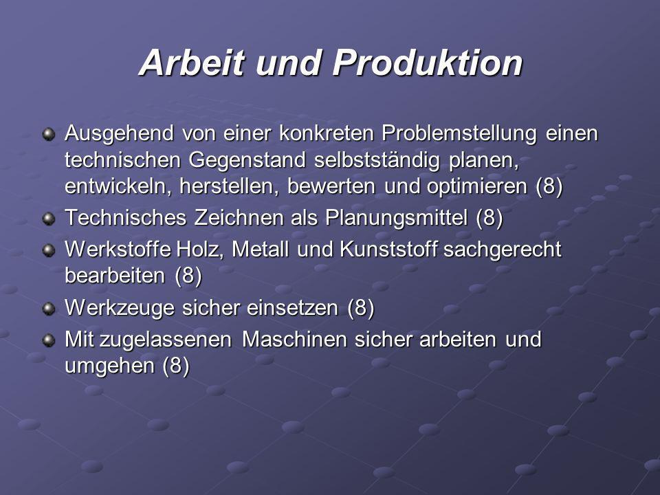 Arbeit und Produktion