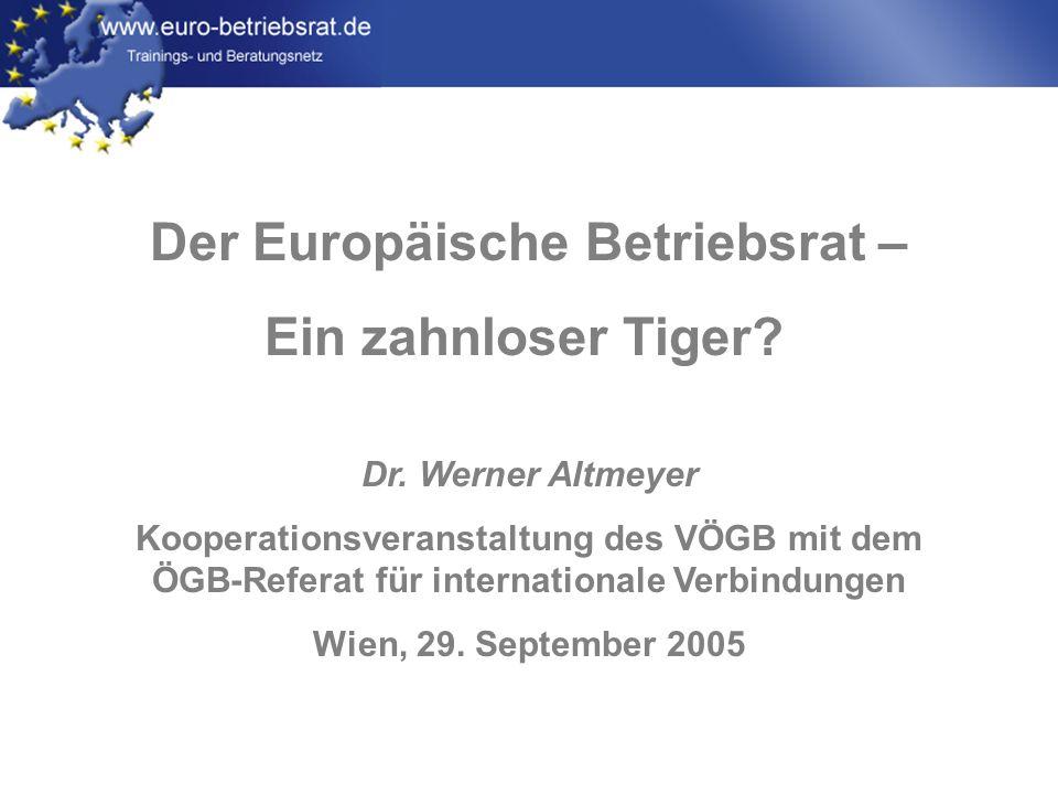 Der Europäische Betriebsrat –