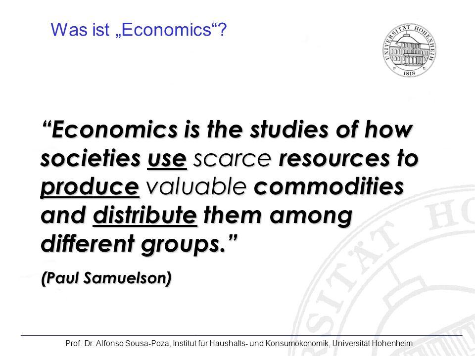 """Was ist """"Economics"""