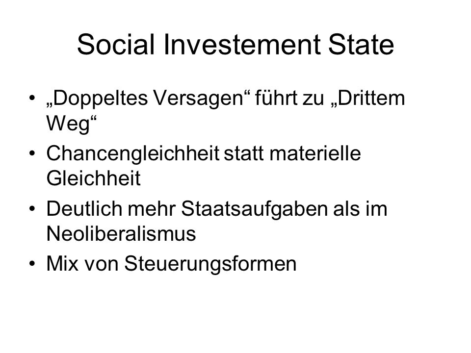 Social Investement State