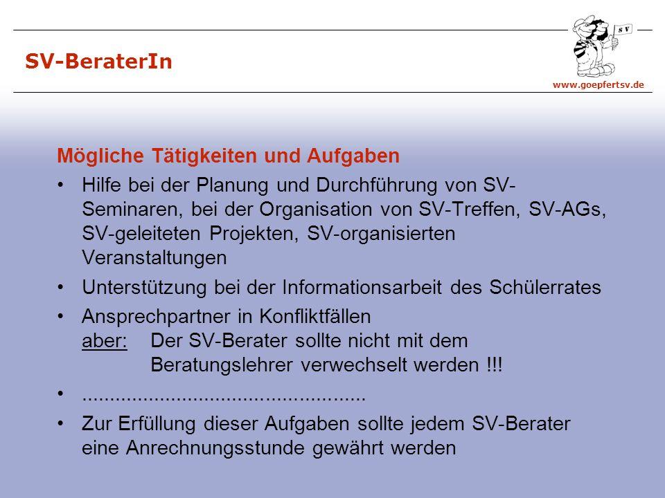 SV-BeraterIn Mögliche Tätigkeiten und Aufgaben.