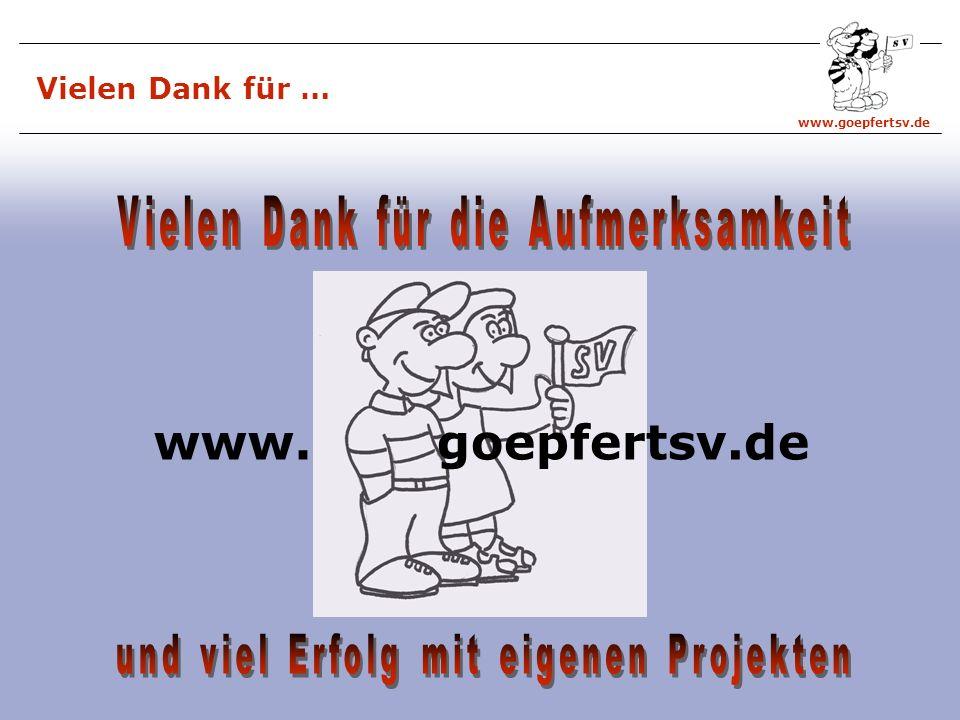 www. goepfertsv.de Vielen Dank für die Aufmerksamkeit