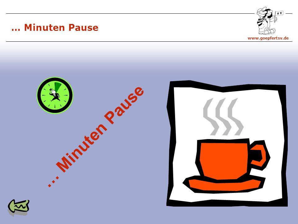 … Minuten Pause … Minuten Pause