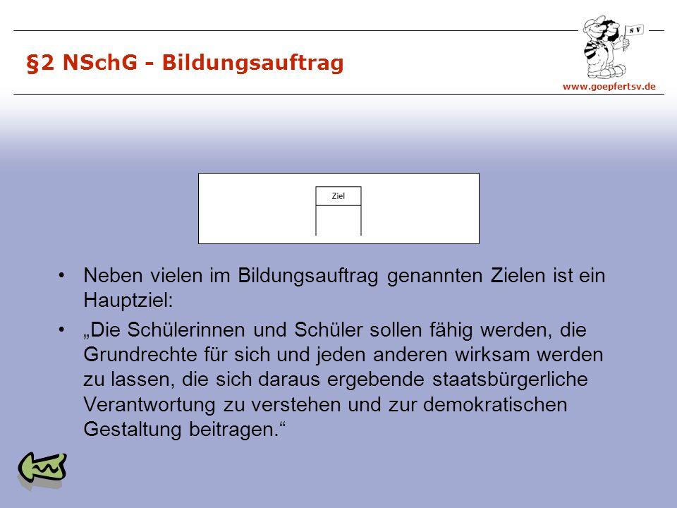 §2 NSchG - Bildungsauftrag