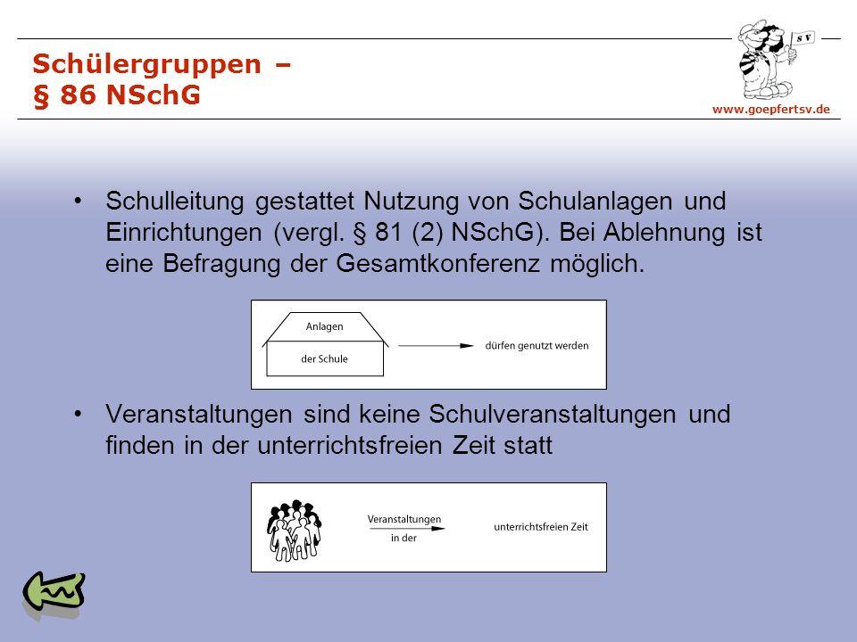 Schülergruppen – § 86 NSchG