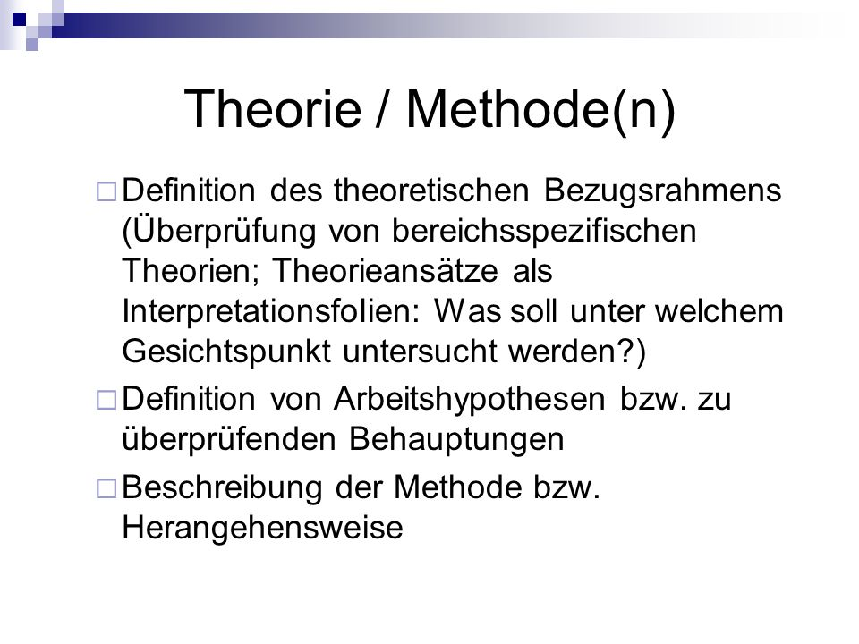 Theorie / Methode(n)