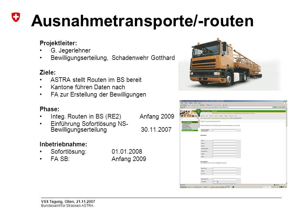 Ausnahmetransporte/-routen