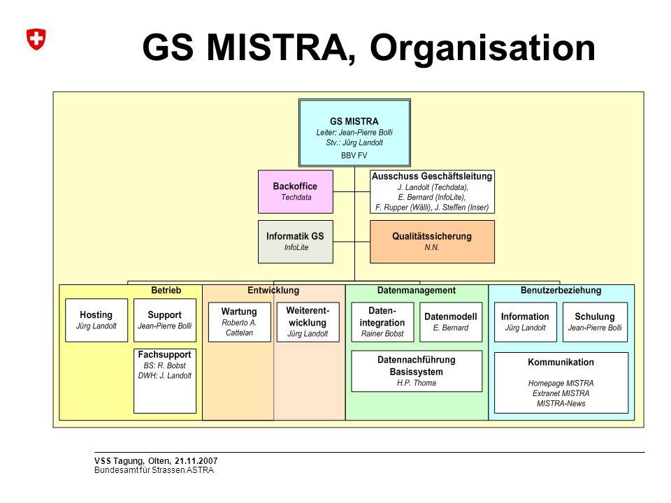 GS MISTRA, Organisation