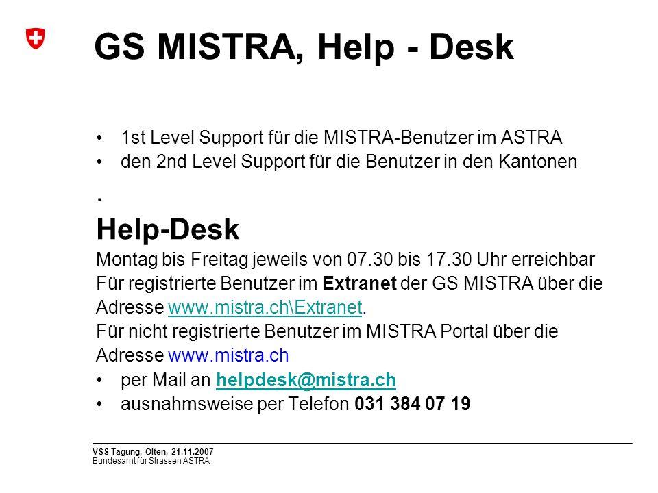GS MISTRA, Help - Desk Help-Desk .