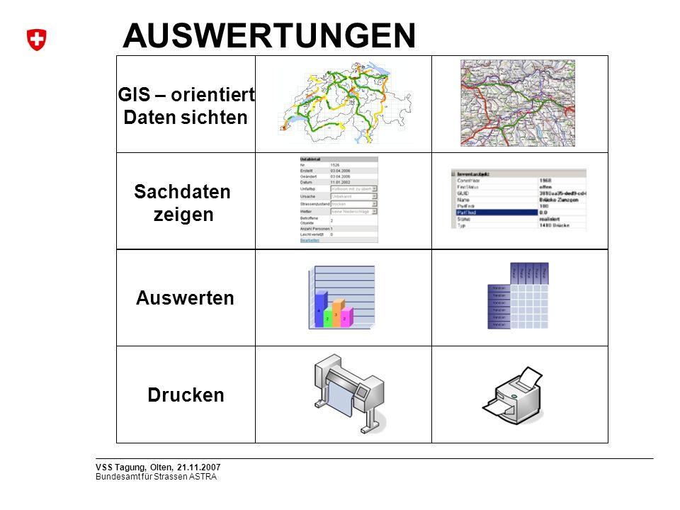 AUSWERTUNGEN GIS – orientiert Daten sichten Sachdaten zeigen Auswerten